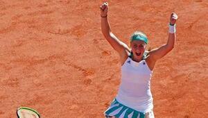 Fransa Açıkta şampiyon Jelena Ostapenko