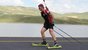 Doğa sporcusu Üstüntaş olimpiyatlara Erciyeste hazırlanıyor