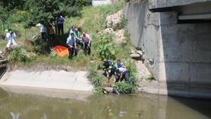 Eskişehirde sulama kanalında elleri bağlı erkek cesedi bulundu