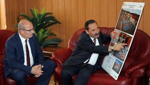 Başkan Demirel ATO Başkanı Barana projelerini anlattı