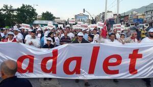 Bursada CHPden  Adalet Yürüyüşüne destek
