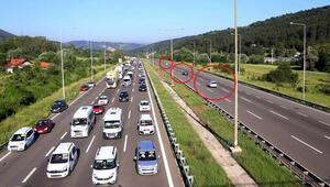 TEMde yoğun trafik...
