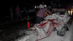 Gölbaşında trafik kazası: 1 ölü, 13 yaralı
