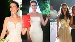 Fahriye Evcen ile Burak Özçivit evlendi... Fahriye düğünde 3 gelinlik giydi