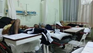 Edirnede 14 asker hastaneye kaldırıldı