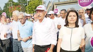 Kılıçdaroğlu: 15 Temmuz şehitleri için de yürüyoruz