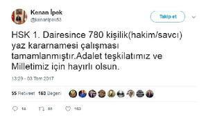 HSKdan yaz kararnamesi: 780 hakim ve savcının yeri değişti