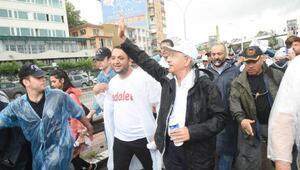 Kılıçdaroğlu, 20nci günde yağmurda yürüdü