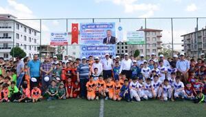 Akyurtta Camiden sahaya-5 futbol turnuvası başladı