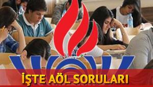 AÖL (Açık Lise) sınav soruları yayımlandı... AÖL sonuçları ne zaman açıklanacak