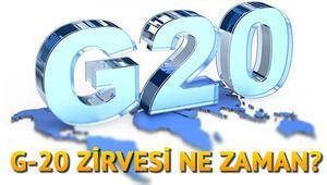 G20 nedir G20 Zirvesine katılacak ülkeler hangileri, hangi konular görüşülecek