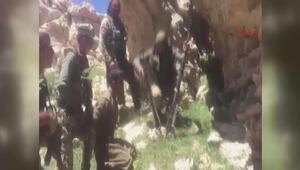 TSK görüntüleri yayınladı PKKlı terörist böyle teslim oldu