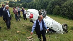 Samsunda, otomobil şarampole yuvarlandı: 1 ölü, 6 yaralı