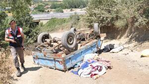 Patpat devrildi, sürücü öldü