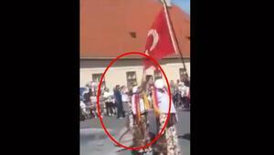 Hırvatistan'da Türk Bayrağına çirkin saldırı