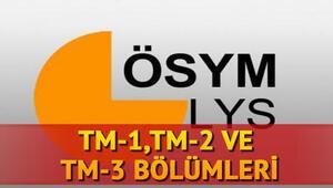 TM-1, TM-2 ve TM-3 ile alan bölümler hangileri Türkçe Matematik bölümleri