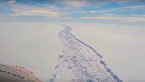Antarktikadan Kıbrısın üçte ikisi büyüklüğünde buzdağı koptu