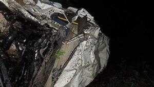 Minibüs uçuruma yuvarlandı: 3 ölü 10 yaralı