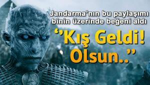 Jandarma Genel Komutanlığından sürpriz paylaşım Kış geldi Olsun...