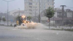 Trakyayı yağış vurdu...
