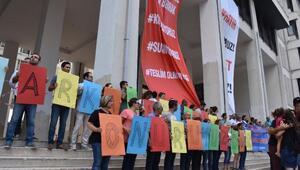 İzmirde KHK ihraçlarına tepki