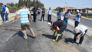 Aydında otomobil kamyona çarptı: 3 yaralı