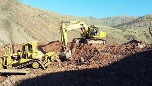 Kemahta Tuzlaköy Barajı yapılıyor