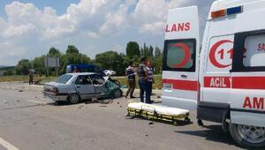 Çavdarhisarda kaza:  6 yaralı