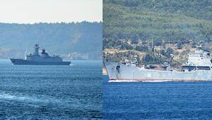Çanakkale Boğazından Çin savaş gemisi filosu ve Rus savaş gemisi geçti