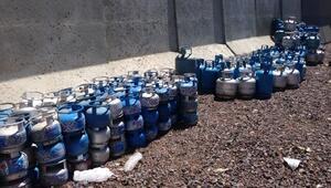 Patnosta 56 iş yerinde kaçak tüpler toplandı