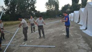 Yanan köyde hasar tespit çalışmalarına başlandı