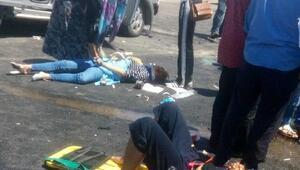 Otomobil ile hafif ticari araç çarpıştı; 1 ölü, 7 yaralı