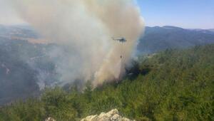 Sındırgıda 7 hektar orman yandı