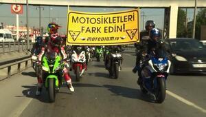 Yüzlerce motorsikletli Bursada buluştu