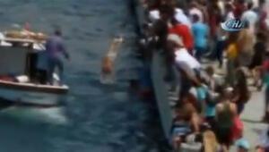 Kadıköy iskelesinde hareketli dakikalar