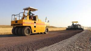 Tutakta köy yollarına asfalt