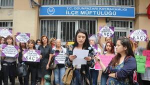 Kadınların müftülük önünde nikah kıyma protestosu
