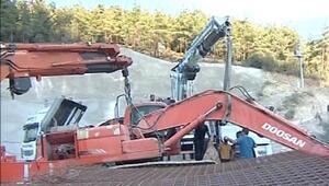 Hızlı tren inşaatında taşeron firmanın iş makinalarına haciz