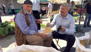 Başkan Epsileliden pazar esnafına ziyaret