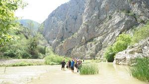Kanyonda patlayıcı yasağı