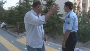 Savcının arabasına çarpan alkollü sürücü polise zor anlar yaşattı