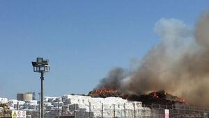 Karton fabrikasının deposunda yangın