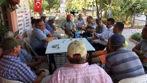 CHPli Öz çiftçilerin sorunlarını dinledi