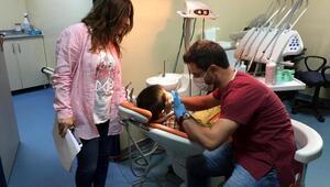 Suriyeli çocuklara genel sağlık ve diş taraması