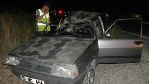 Otomobille çarpışan motosikletteki 2 genç öldü