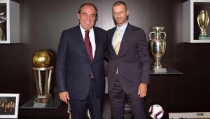 Yıldırım Demirörenden UEFA Başkanına ziyaret