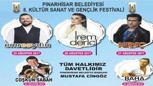 Pınarhisarda Gençlik Festivali başlıyor
