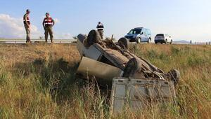 Otomobil şarampole uçtu, sürücü yaralandı