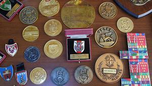 Sancar'ın madalya ve şiltleri Harbiye'deki askeri müzede