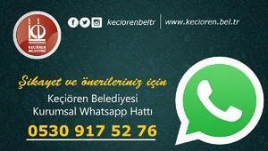 Vatandaşla hızlı iletişim için Whatsapp hattı